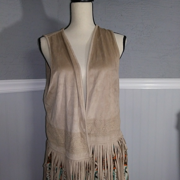 Maurices Jackets & Blazers - Maurices faux suede boho  long fringe vest